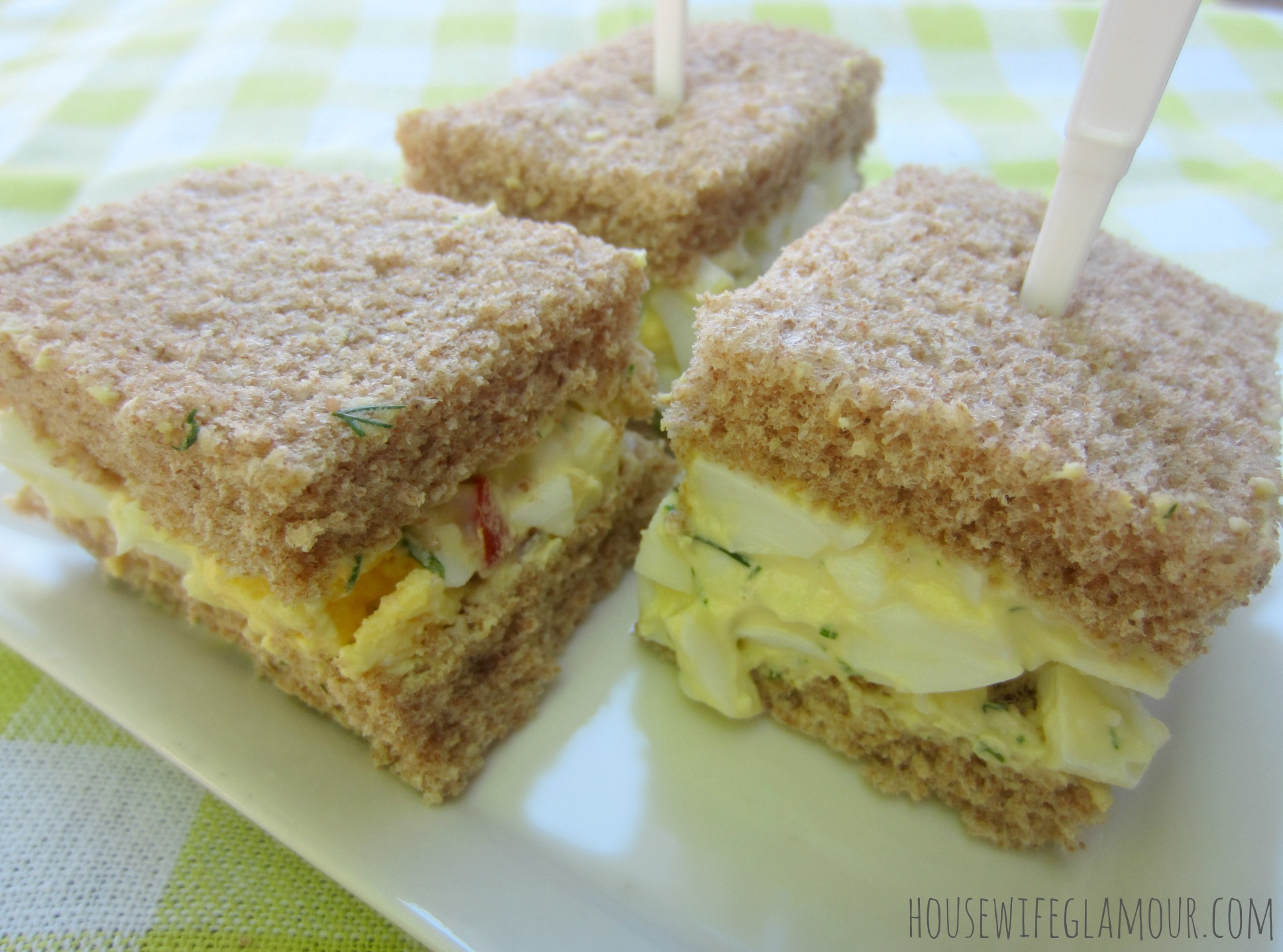 Lighted Up Healthy Egg Salad Sandwich