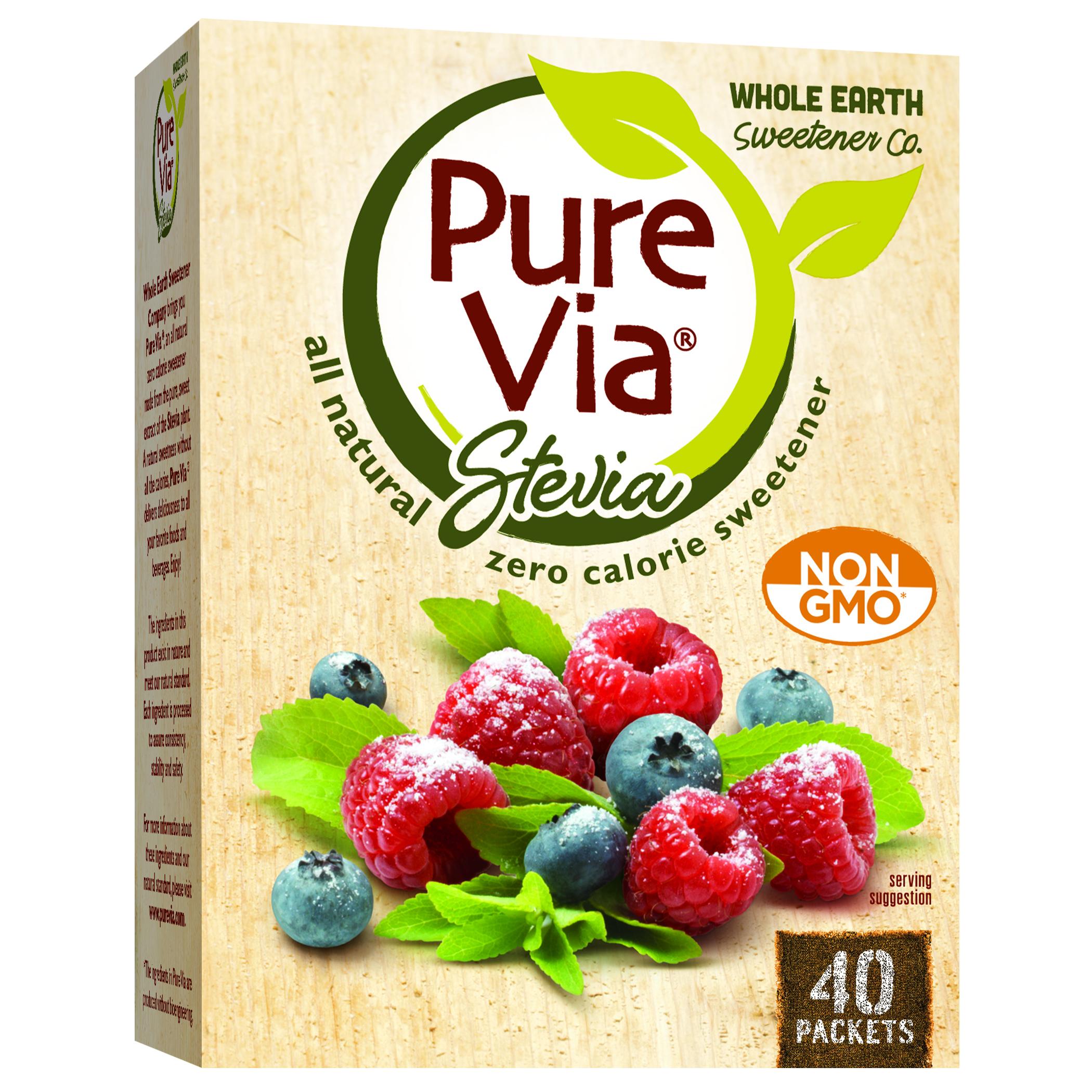 Pure Via Stevia 40 CT NONGMO