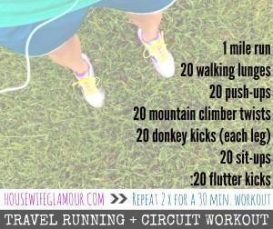 Travel Running Circuit Workout