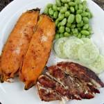 blackened chicken and sweet potato dinner