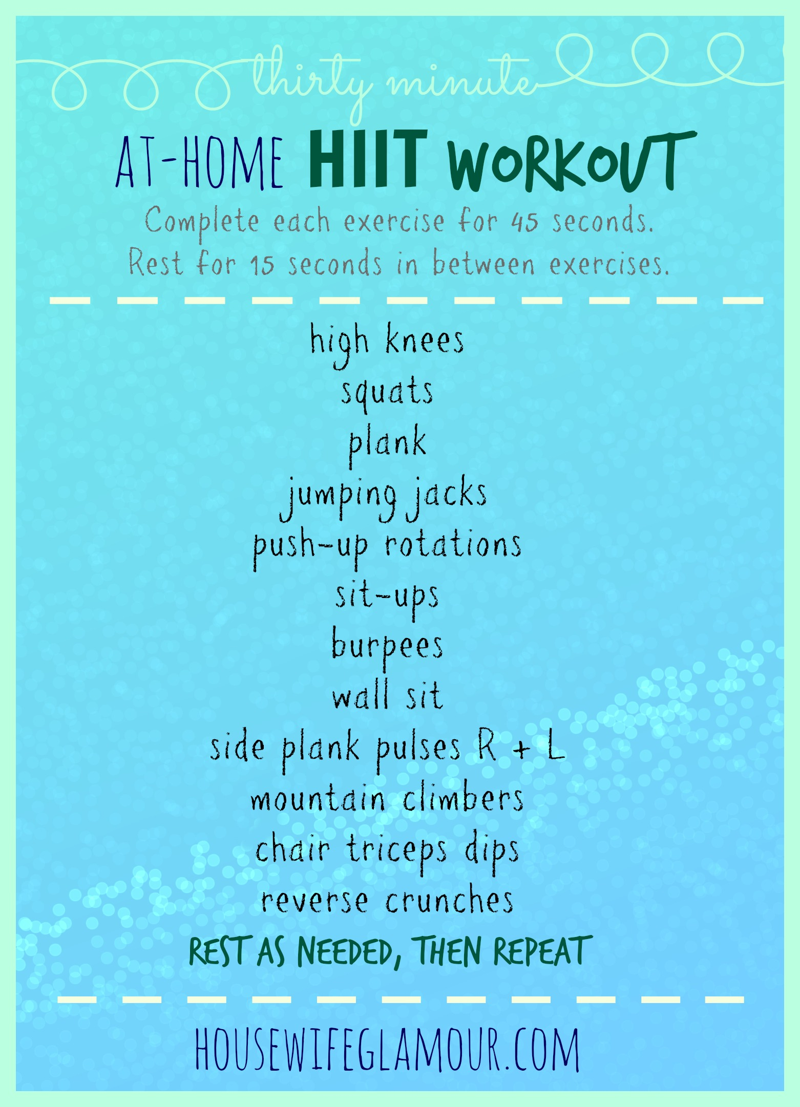 30 Min. At-Home HIIT Workout