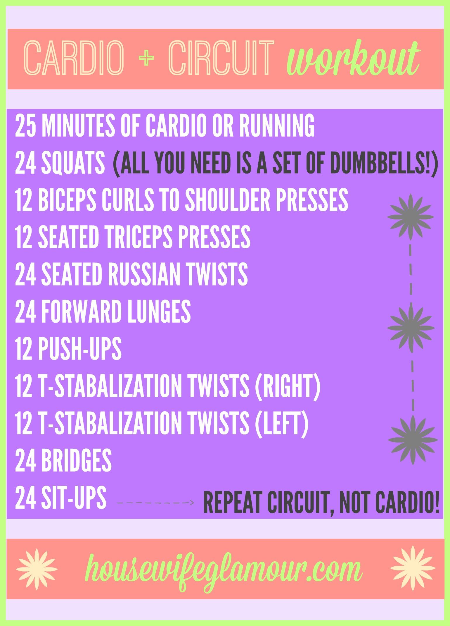 Cardio + Circuit Workout