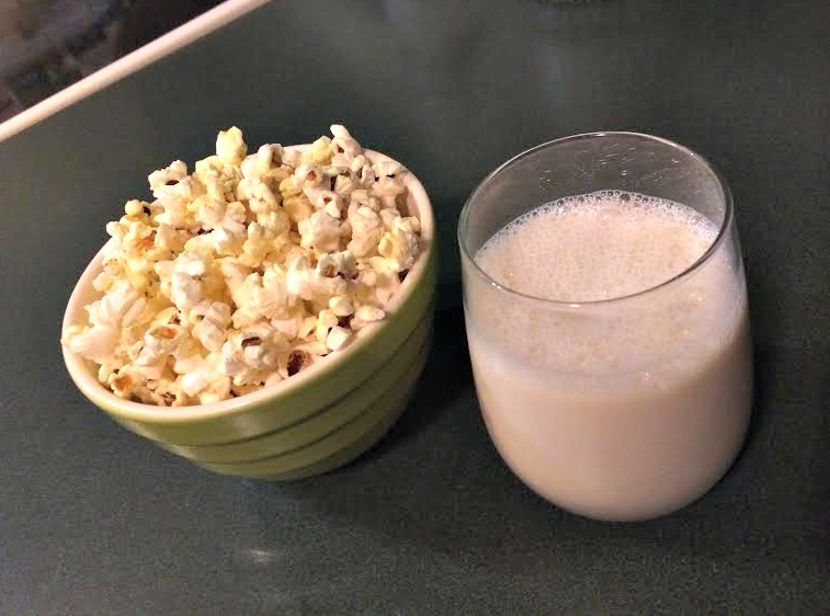 popcorn and almond milk.jpg