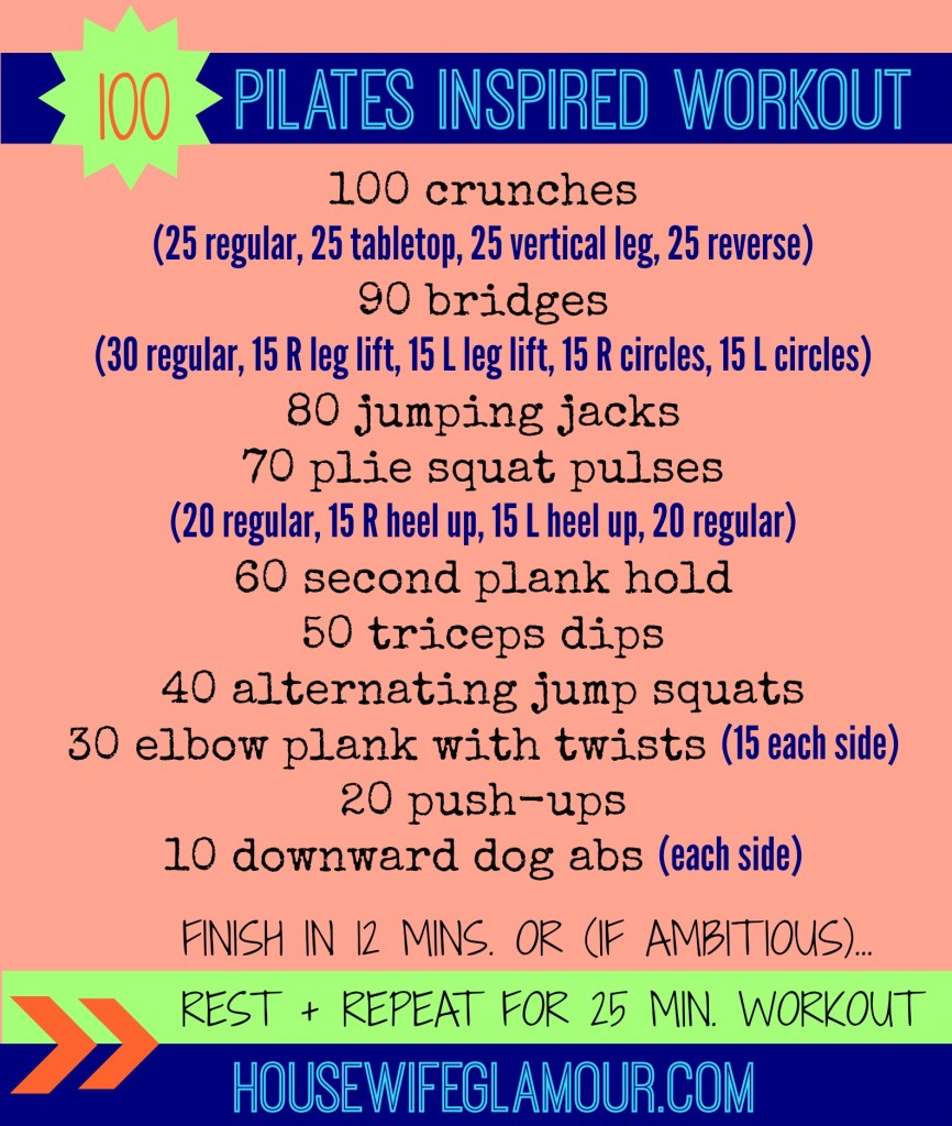 100 At Home Pilates Inspired Workout Life In Leggings