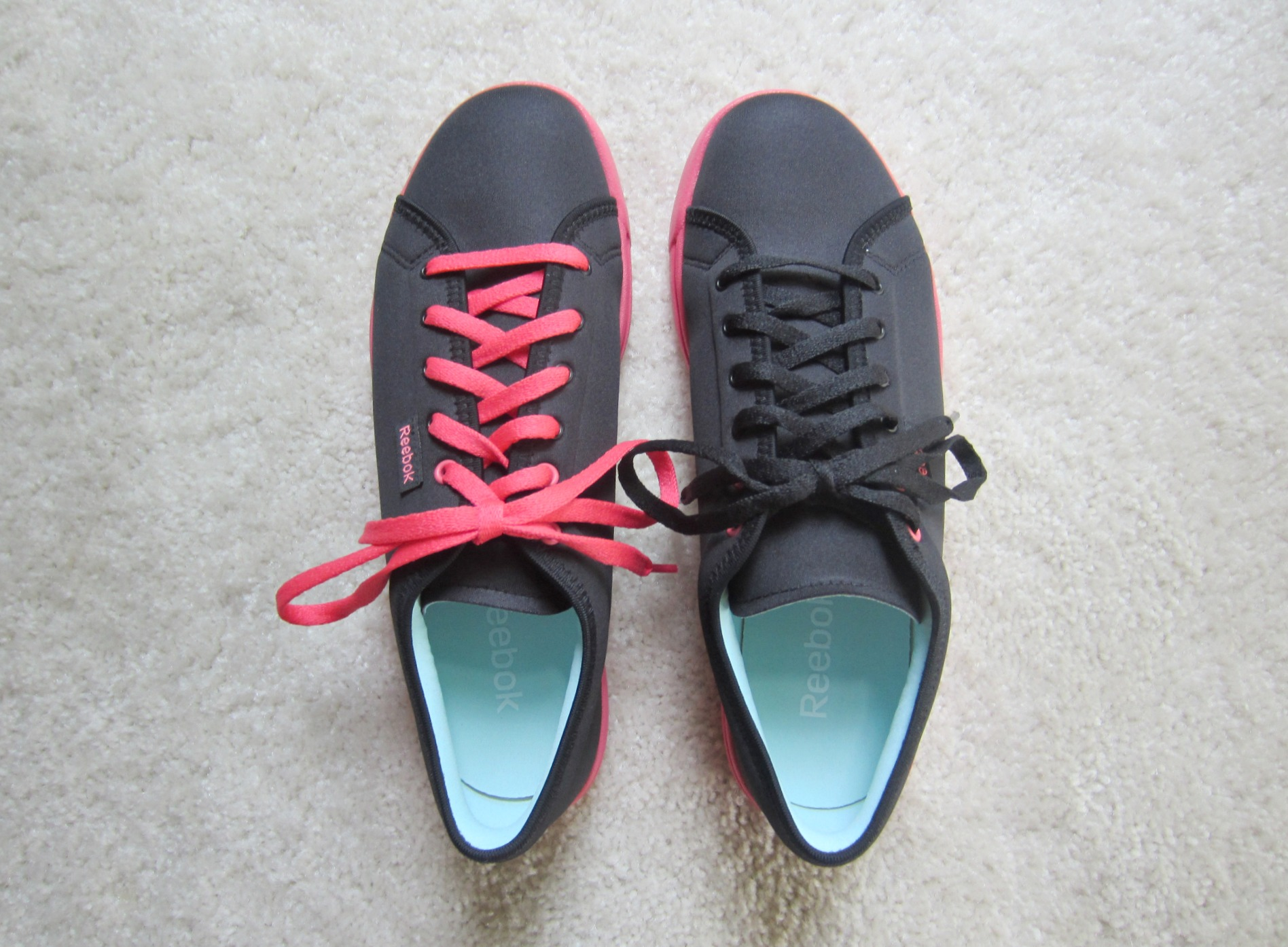 Reebok Skyscapes pink and black sneakers