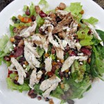 chicken and bean vegetable salad