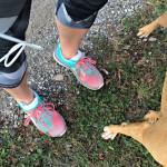 training run with PUMA Mobium shoes