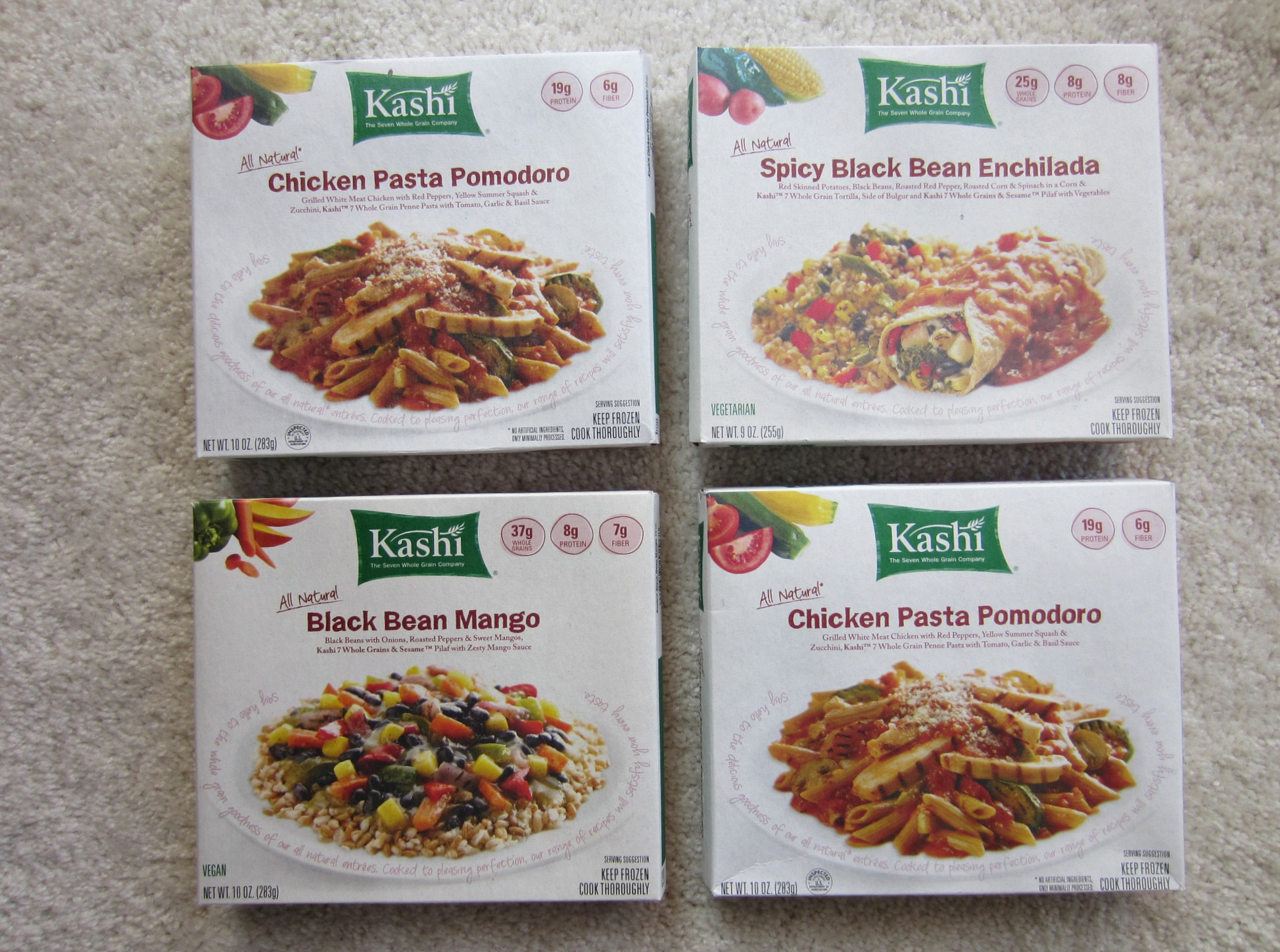 Kashi all natural frozen dinners