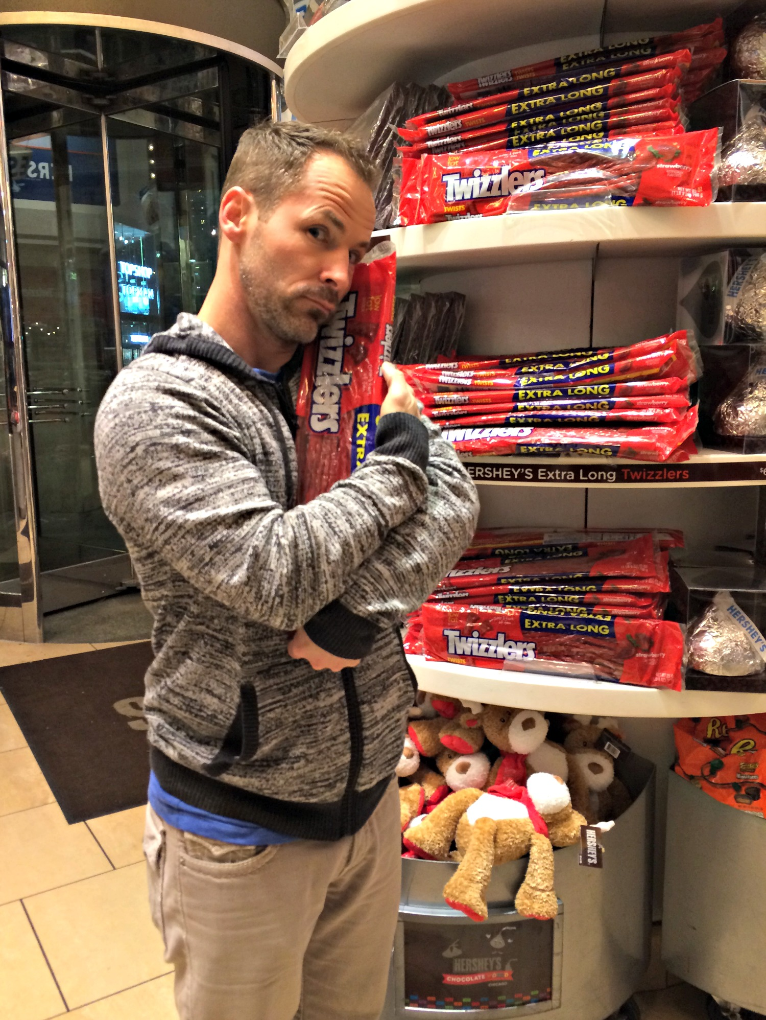 Scott at Hershey's Store chicago