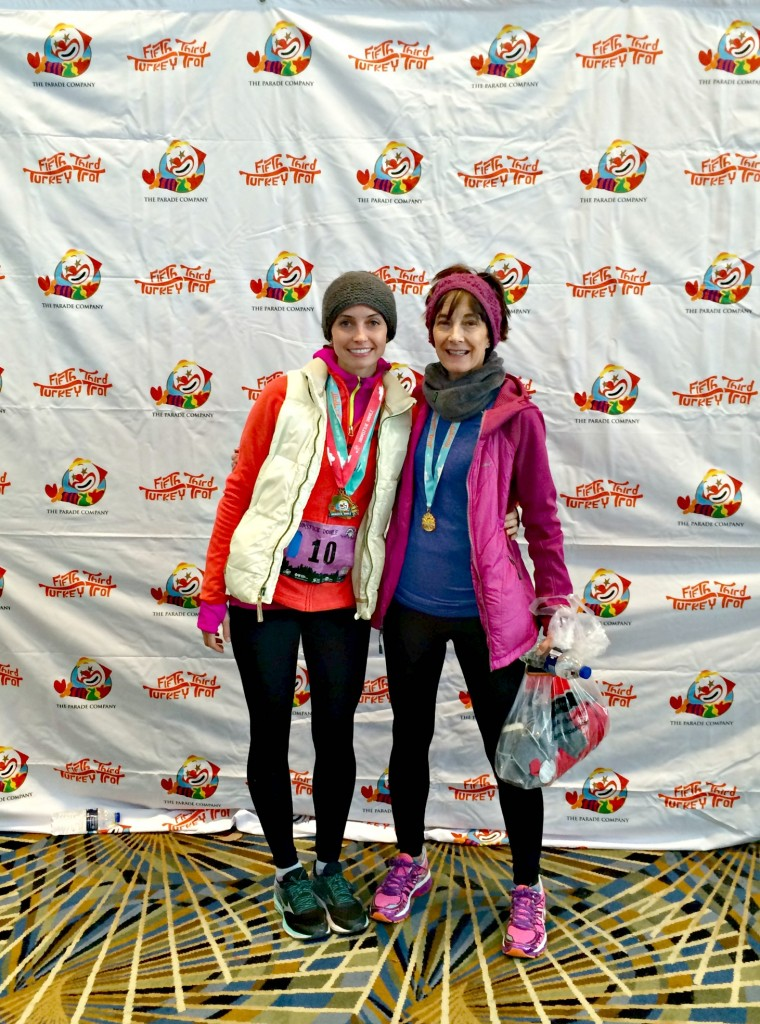 mom and i after the turkey trot detroit