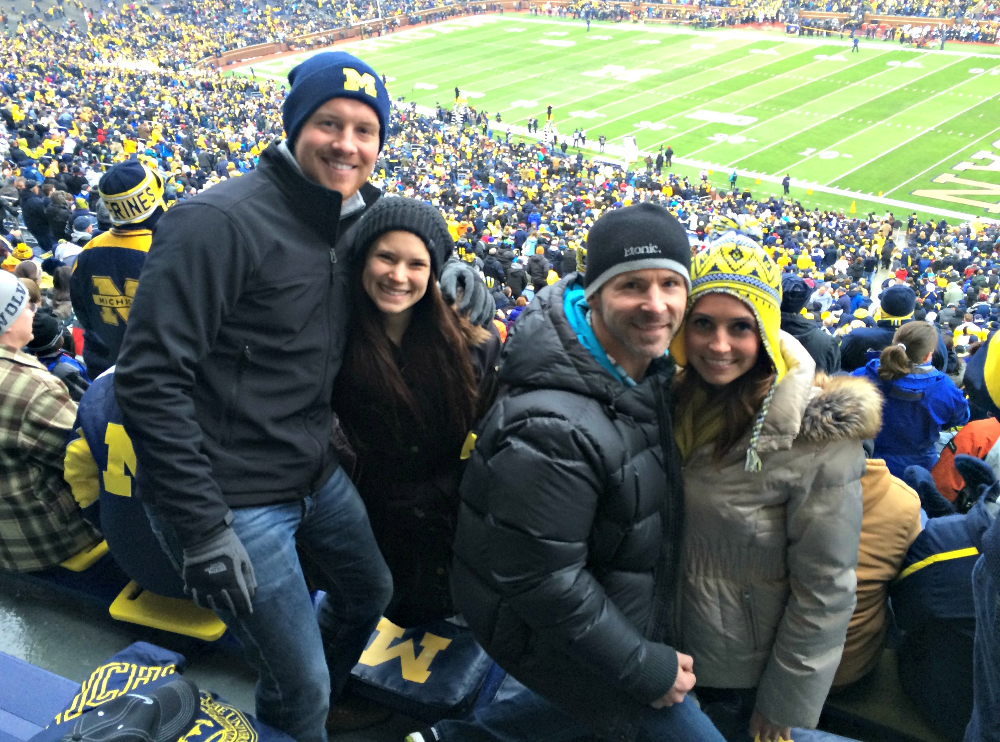 u of michigan game with alex and alex