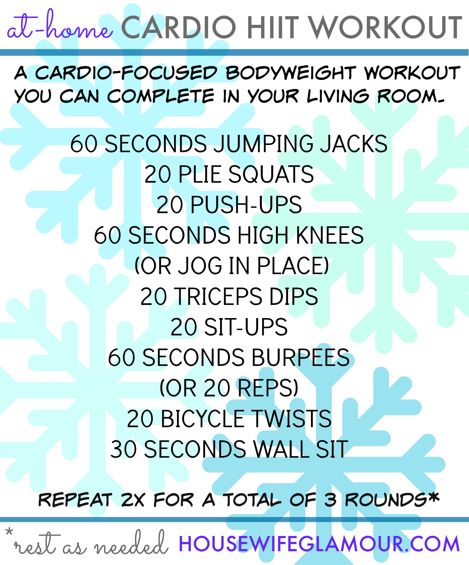 At-Home Cardio HIIT Workout