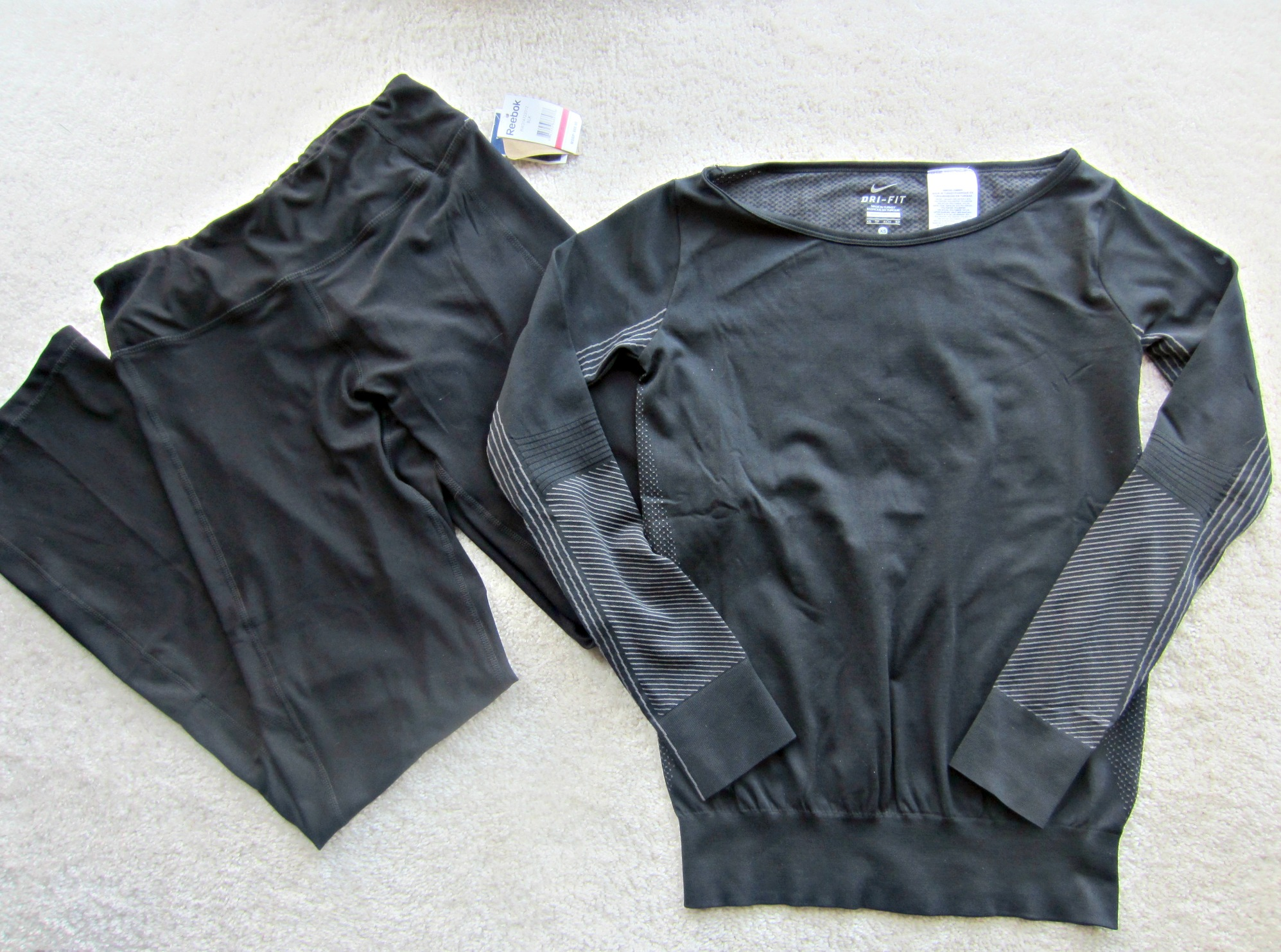 Nike Dri Fit shirt and Reebok active pants from Marshalls