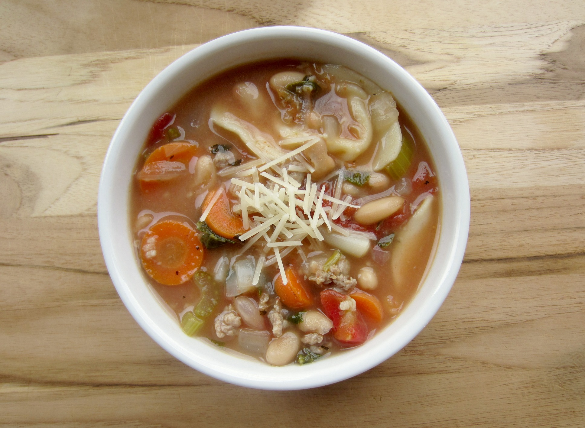 hearty italian tortellini soup