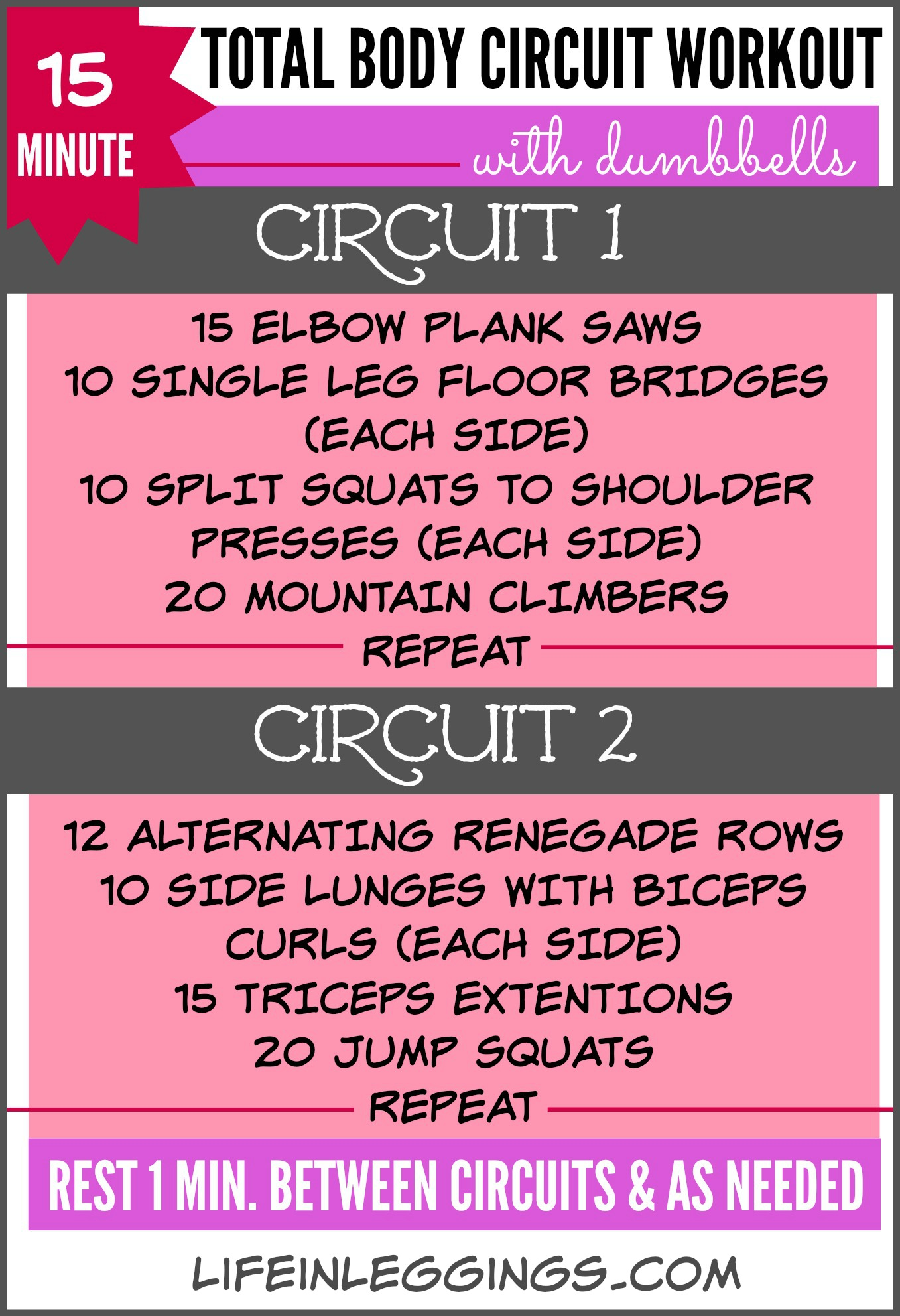 15 Minute Total Body Circuit Workout