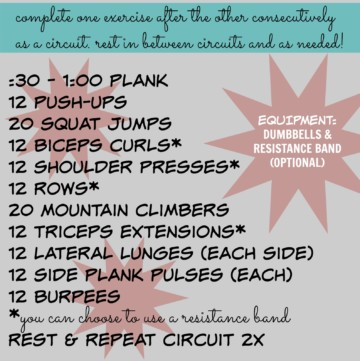 30 minute total body circuit workout
