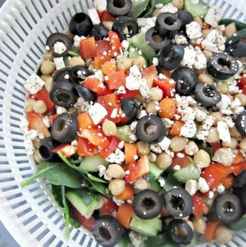 making a monster salad