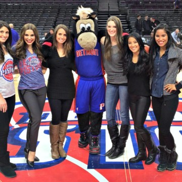 pistons game with HOOPER and friends