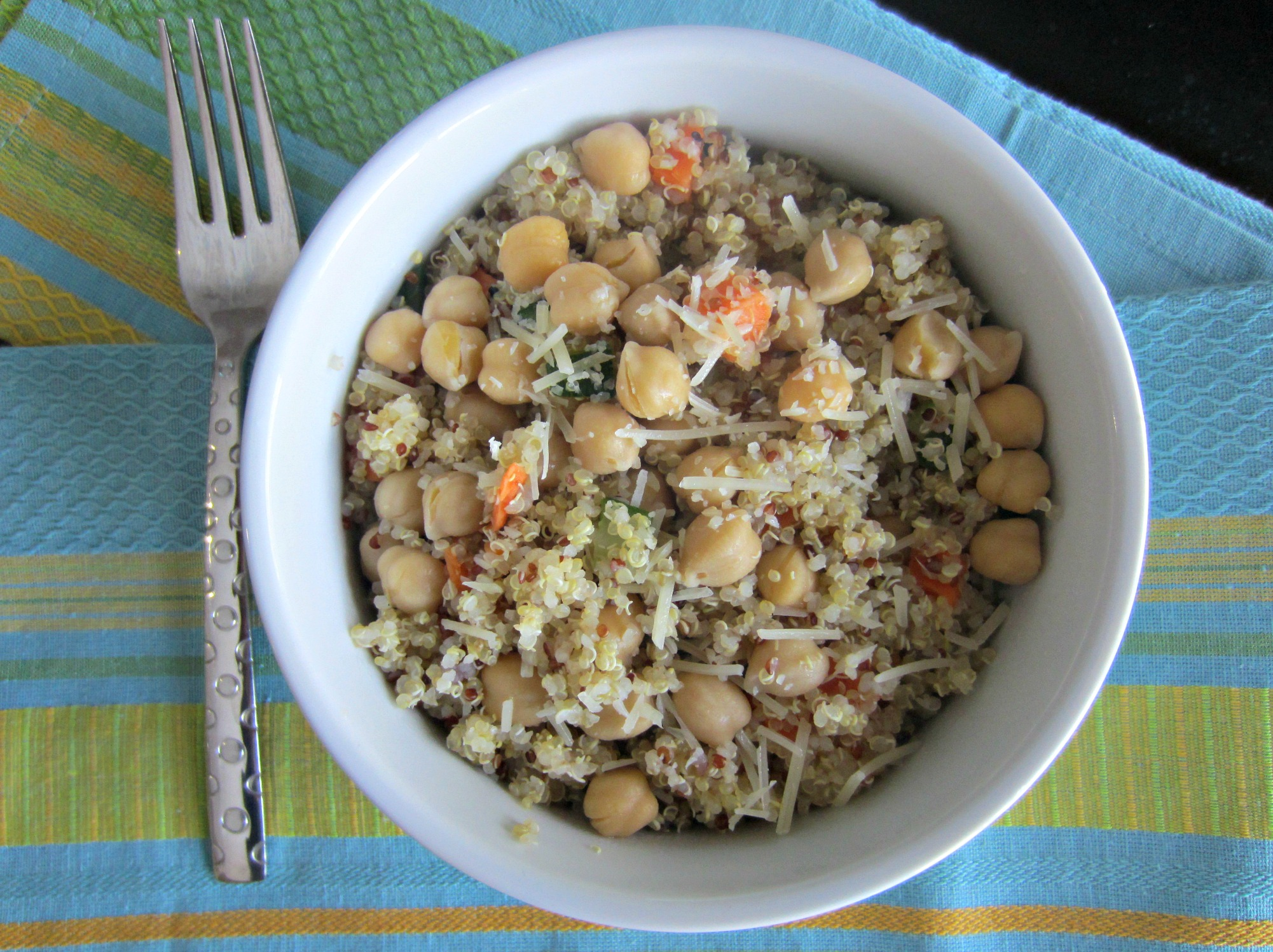 vegetable quinoa with chick peas