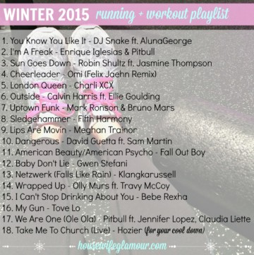 winter 2015 workout and running music