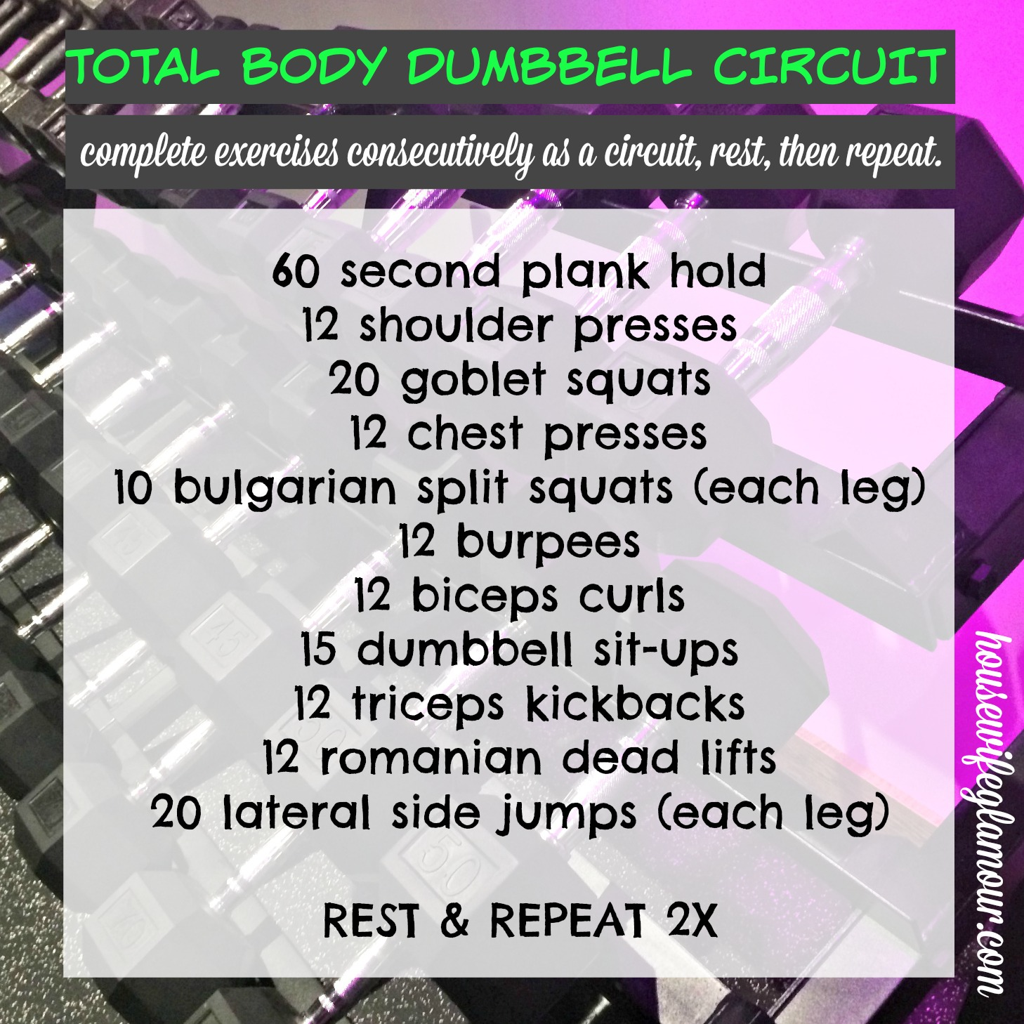 Free Weights Total Body Workout: 30 Min. Total Body Dumbbell Strength Circuit