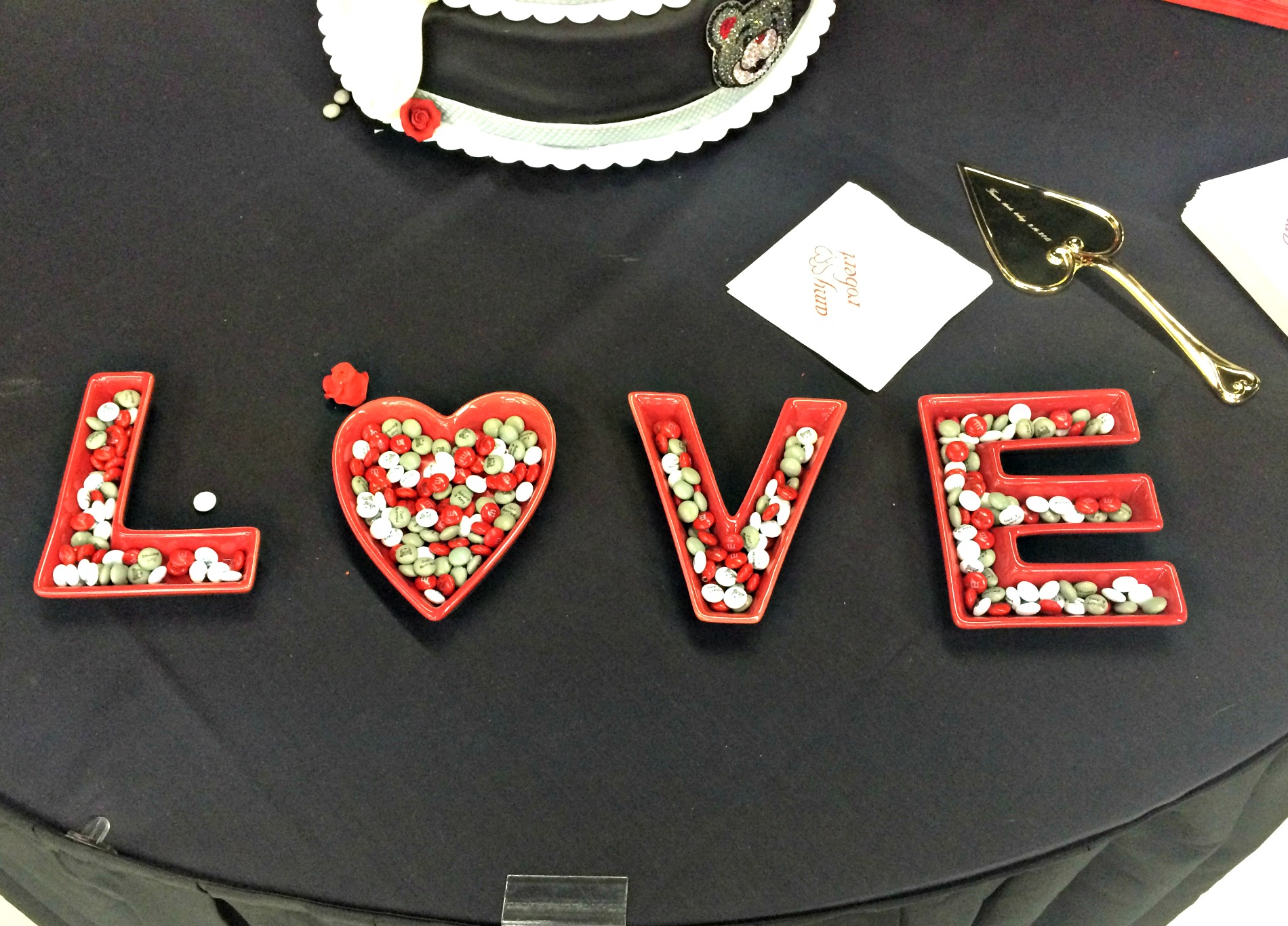 LOVE m&ms display