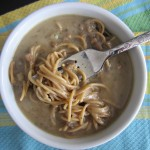 amys cream of mushroom soup over noodles