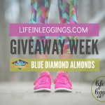 blue diamond almonds life in leggings giveaway week