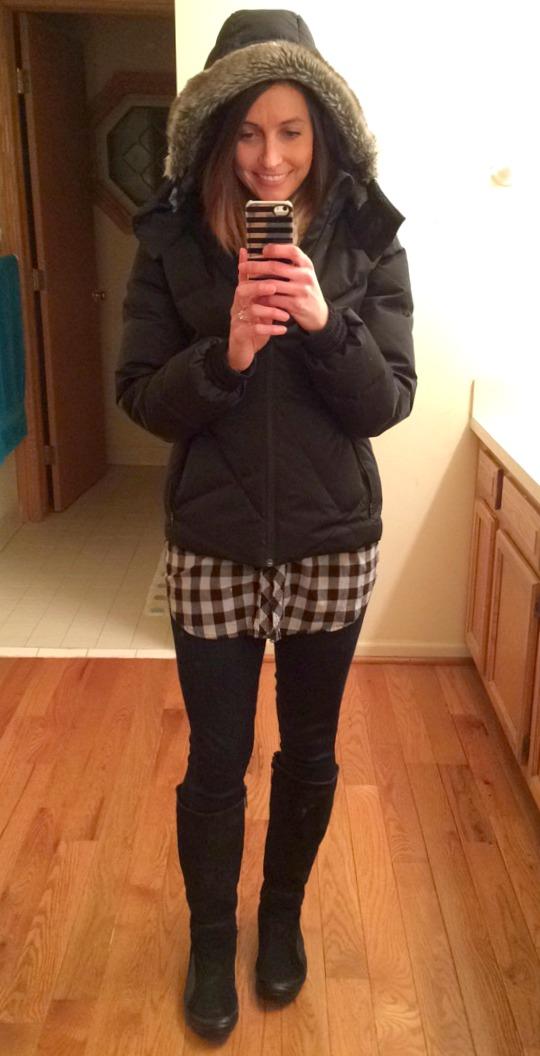casual winter fashion coat reebok