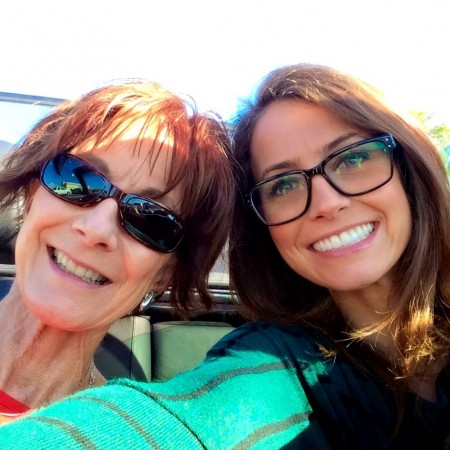 convertible with mom