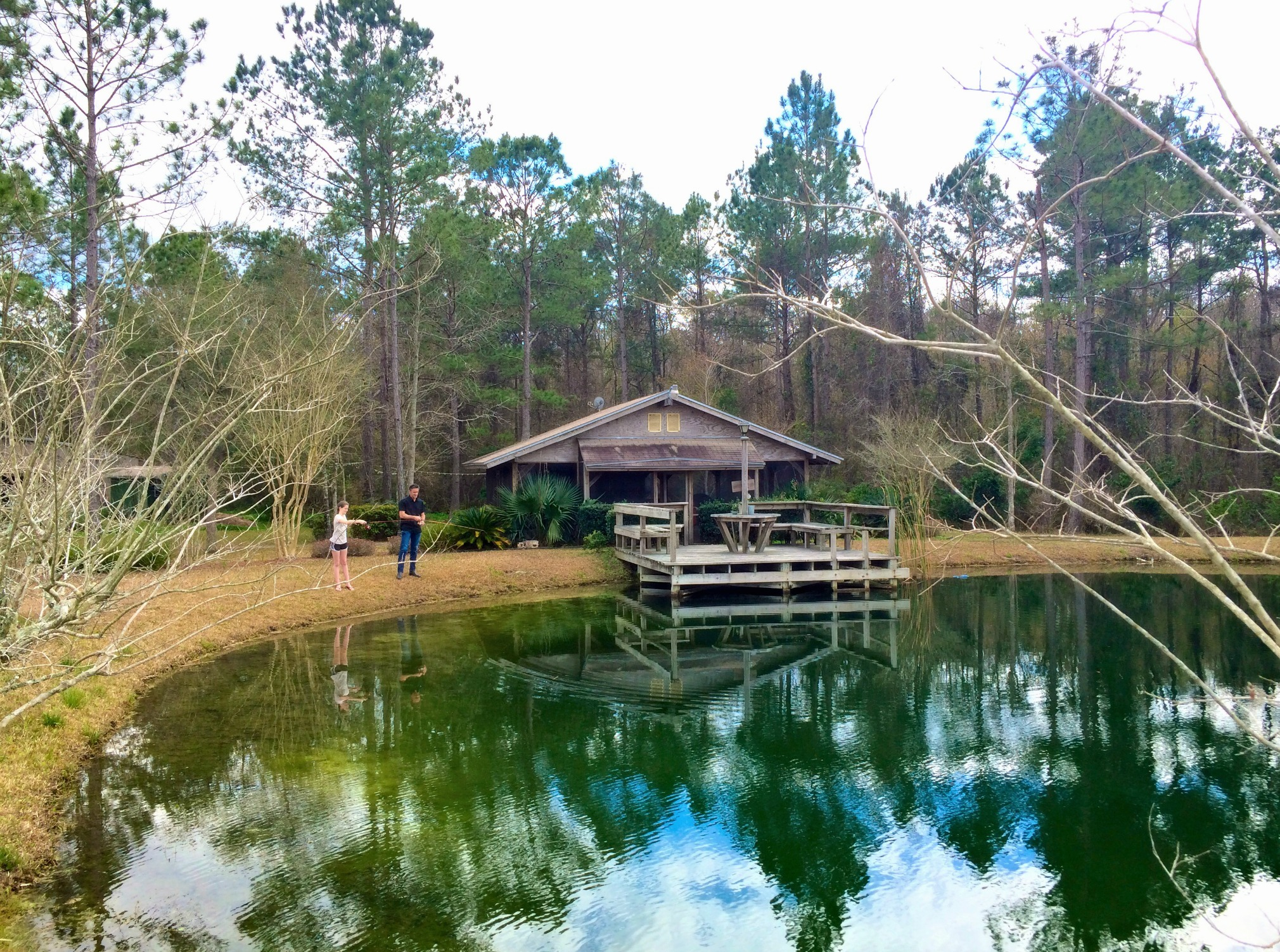 fishing at the ranch
