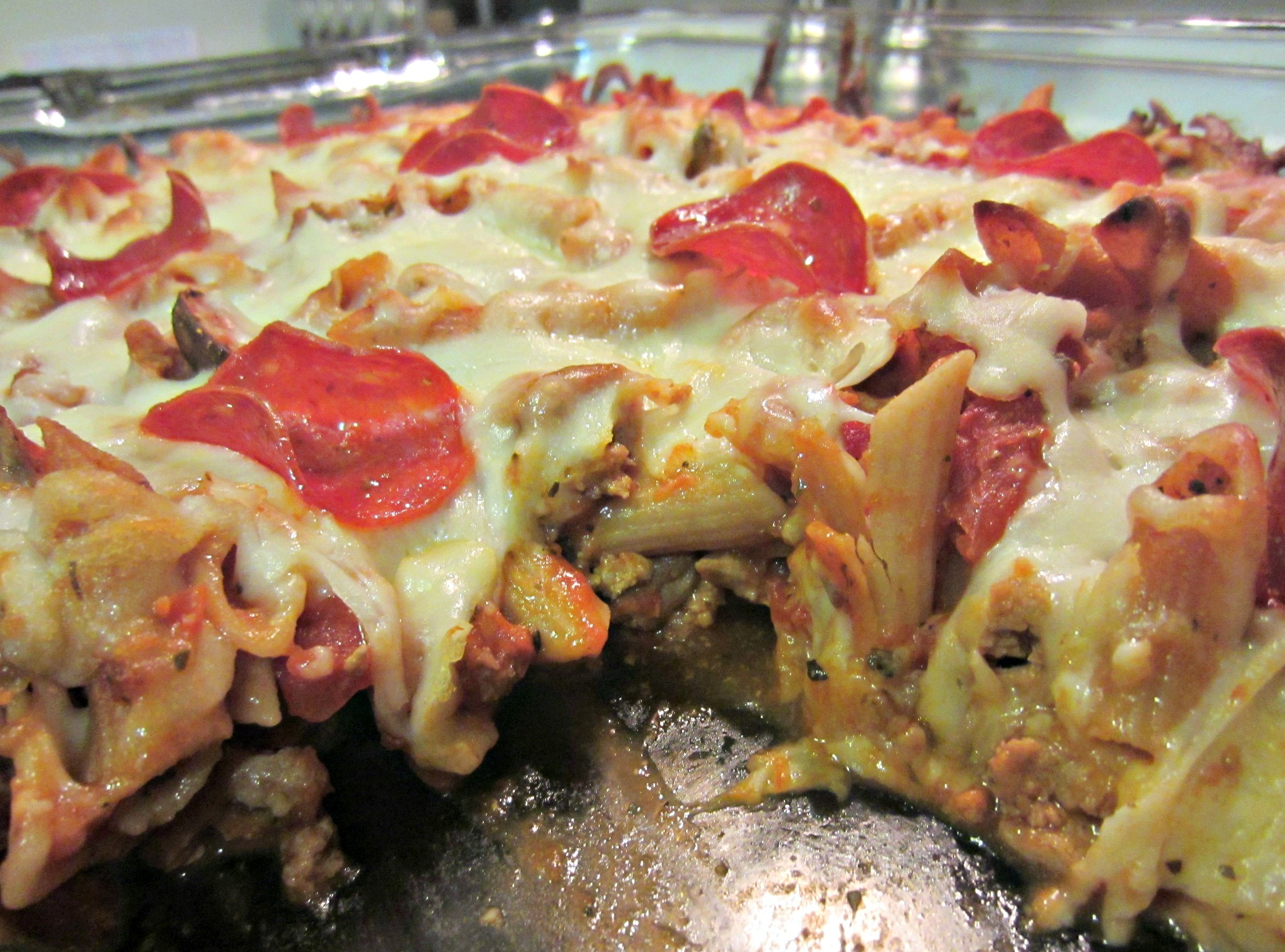 healthy pizza pasta casserole