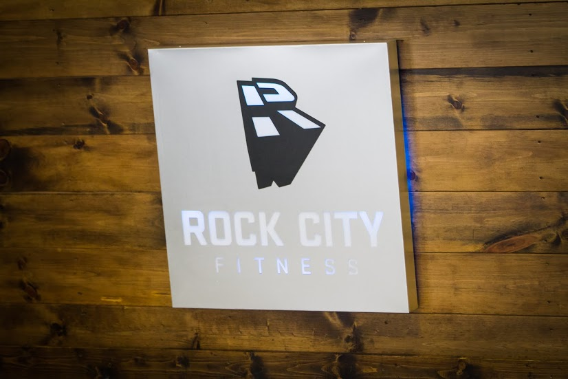 rock city fitness logo metal