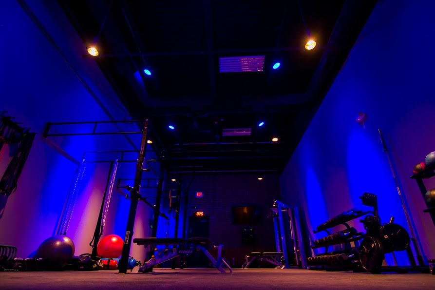 rock city fitness workout floor at night