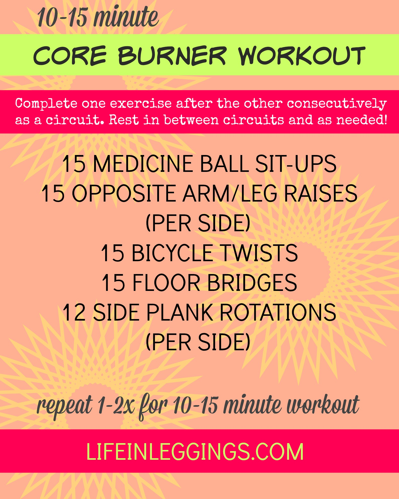 10-15 minute core burner workout