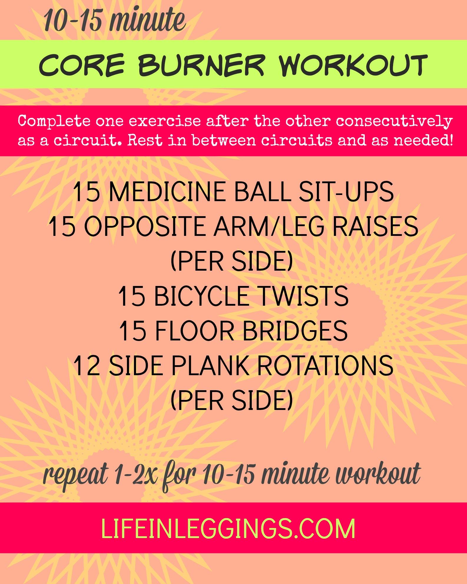 10-15 minute core burner workout