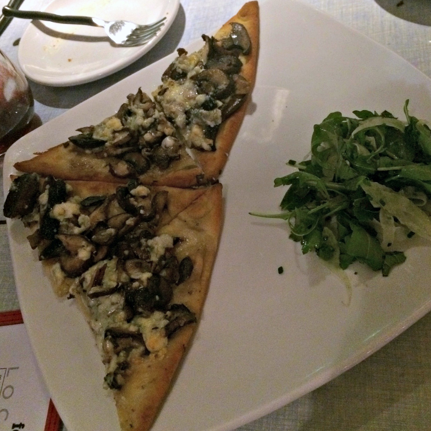 Local flatbread appetizer