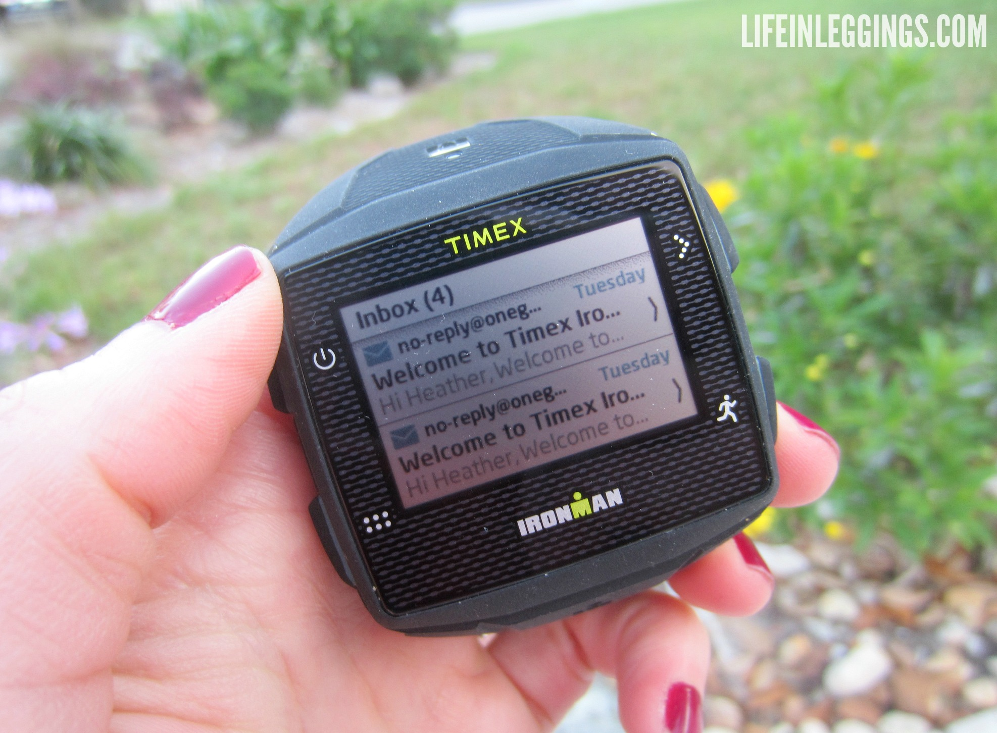 Timex Ironman ONE GPS+ messaging