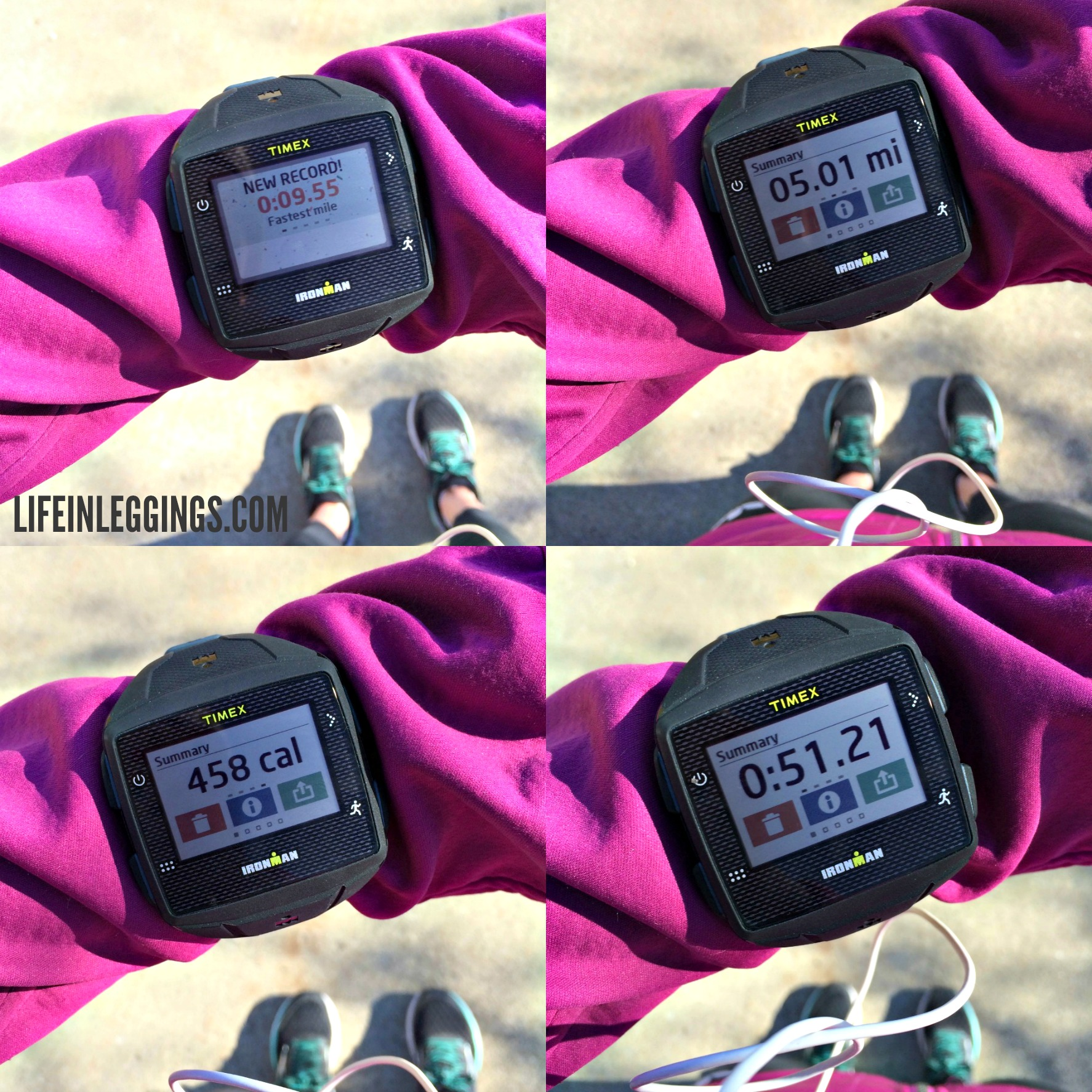 Timex ONE GPS+ run summary