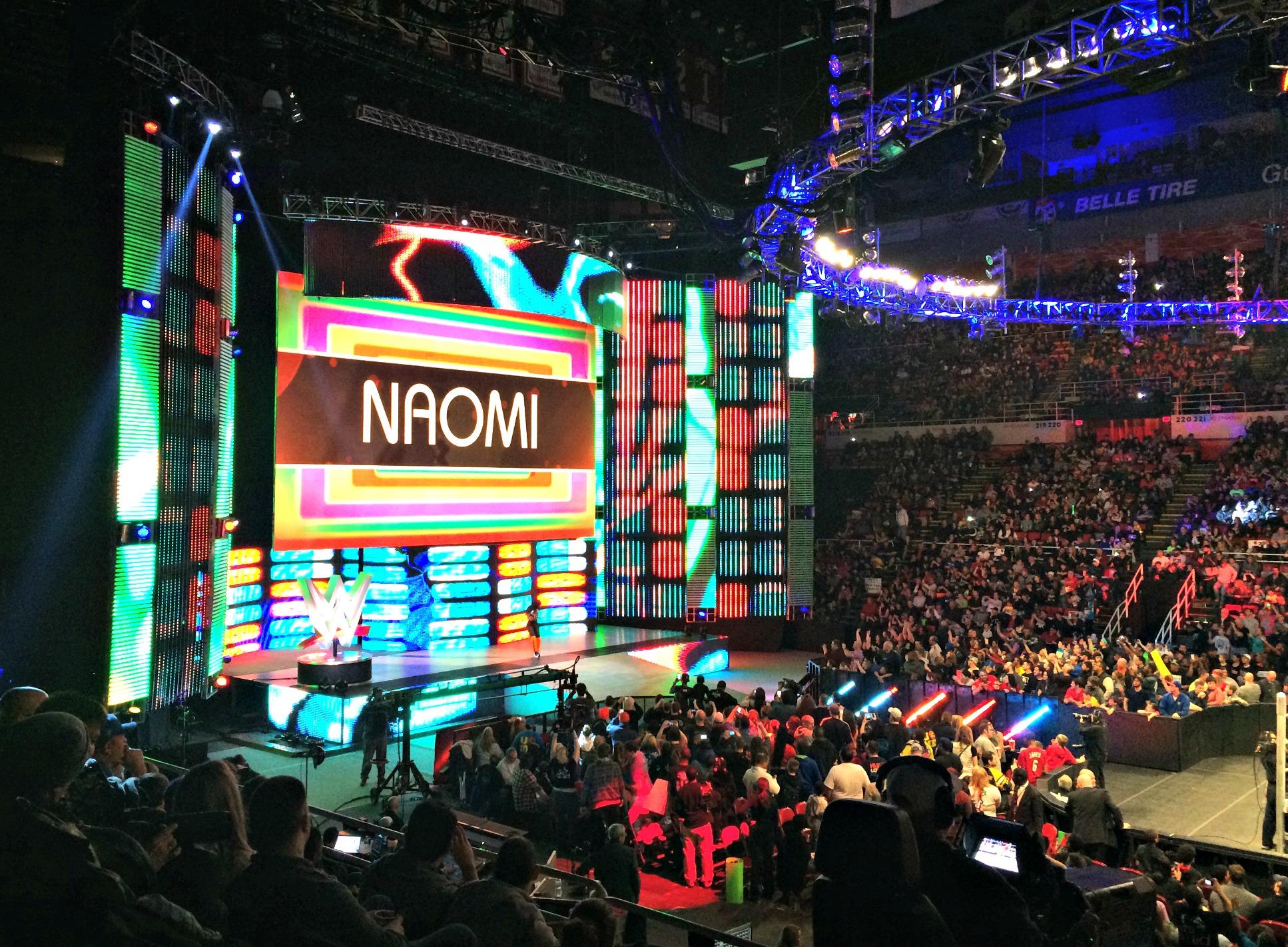 WWE Detroit Naomi entrance