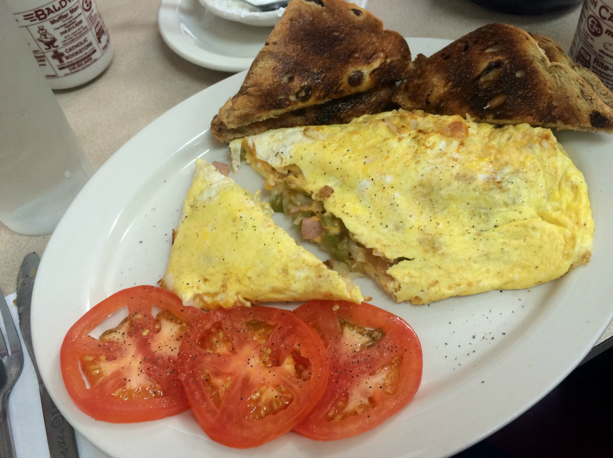 baldwin cafe farmers omelet