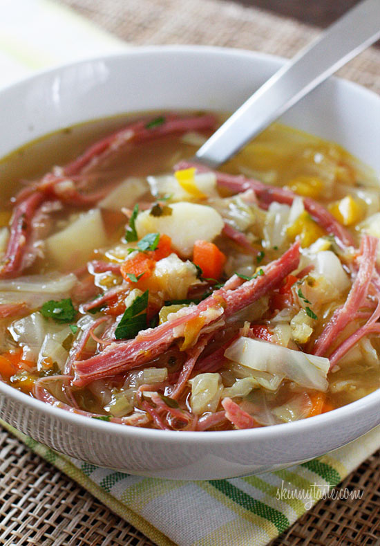 corned beef and cabbage skinny soup