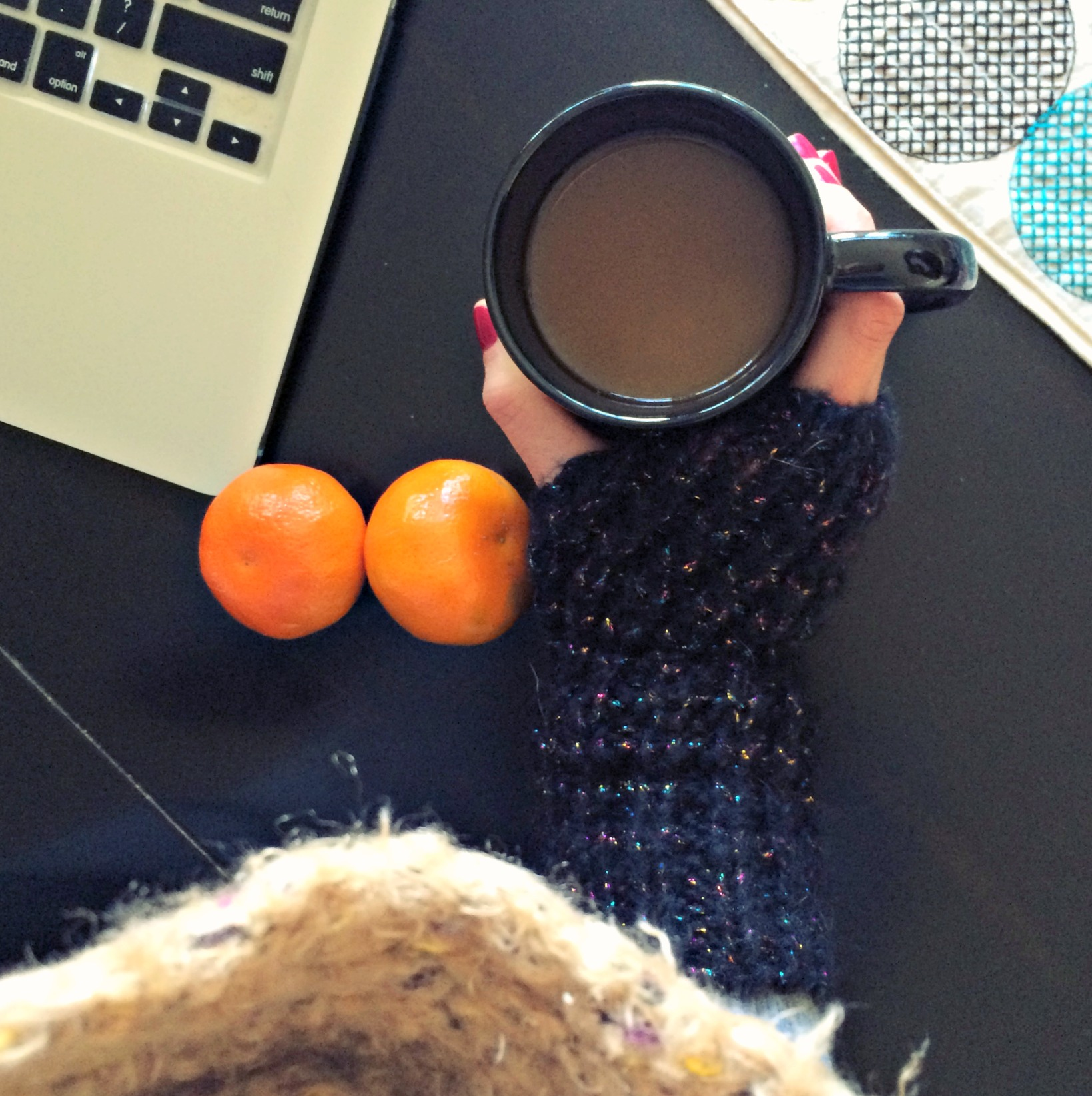 cozy coffee and clementines