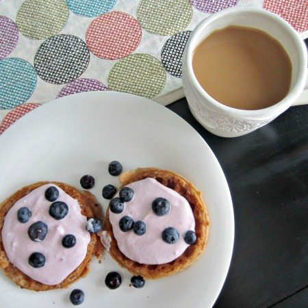 gluten free waffles with yogurt and berries