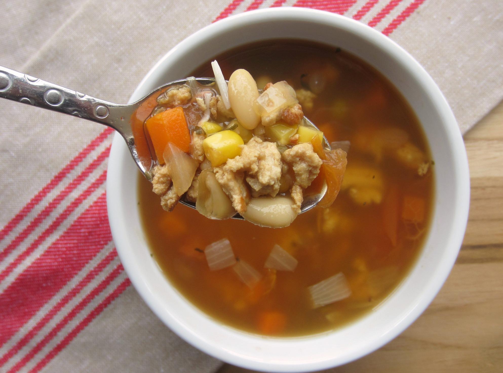 healthy turkey vegetable soup