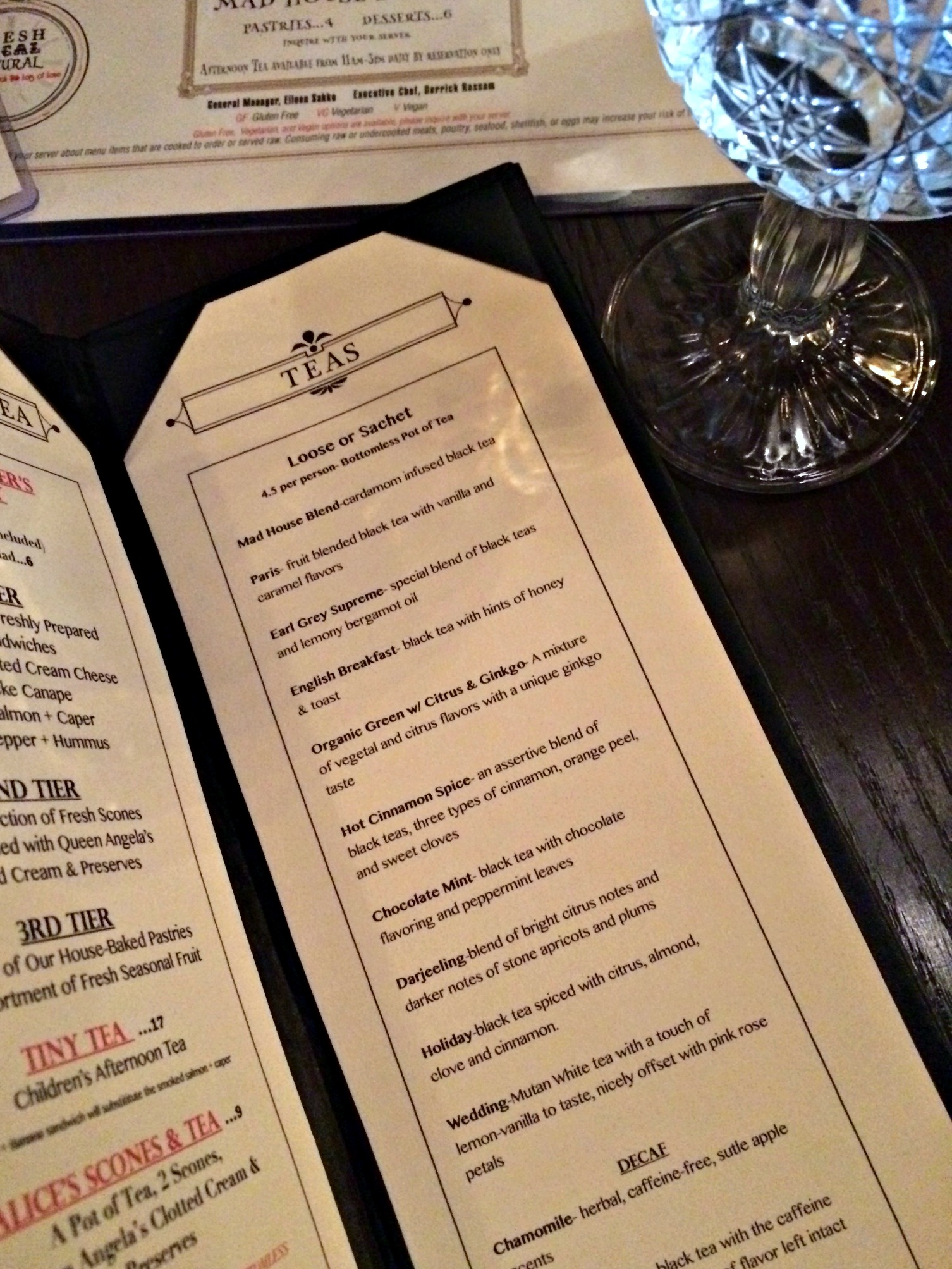 mad hatter bistro tea menu