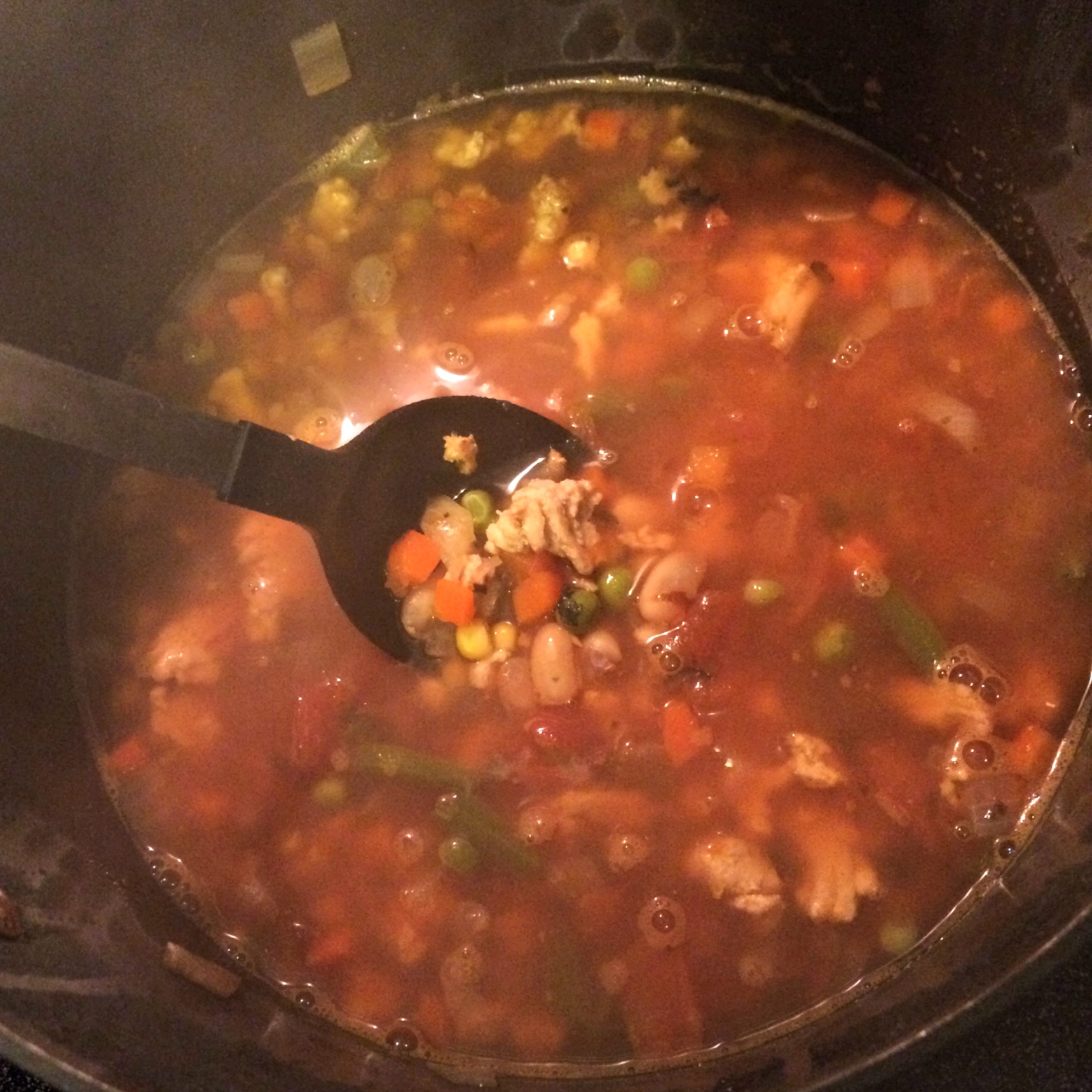 making healthy vegetable soup