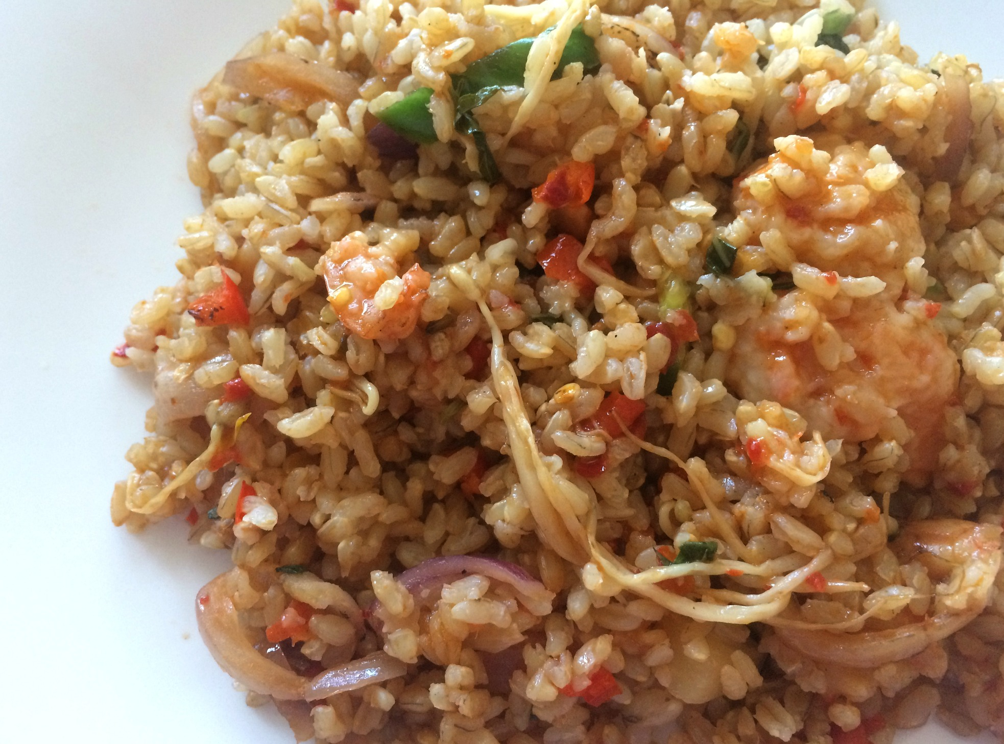 pei wei shrimp pineapple rice dish