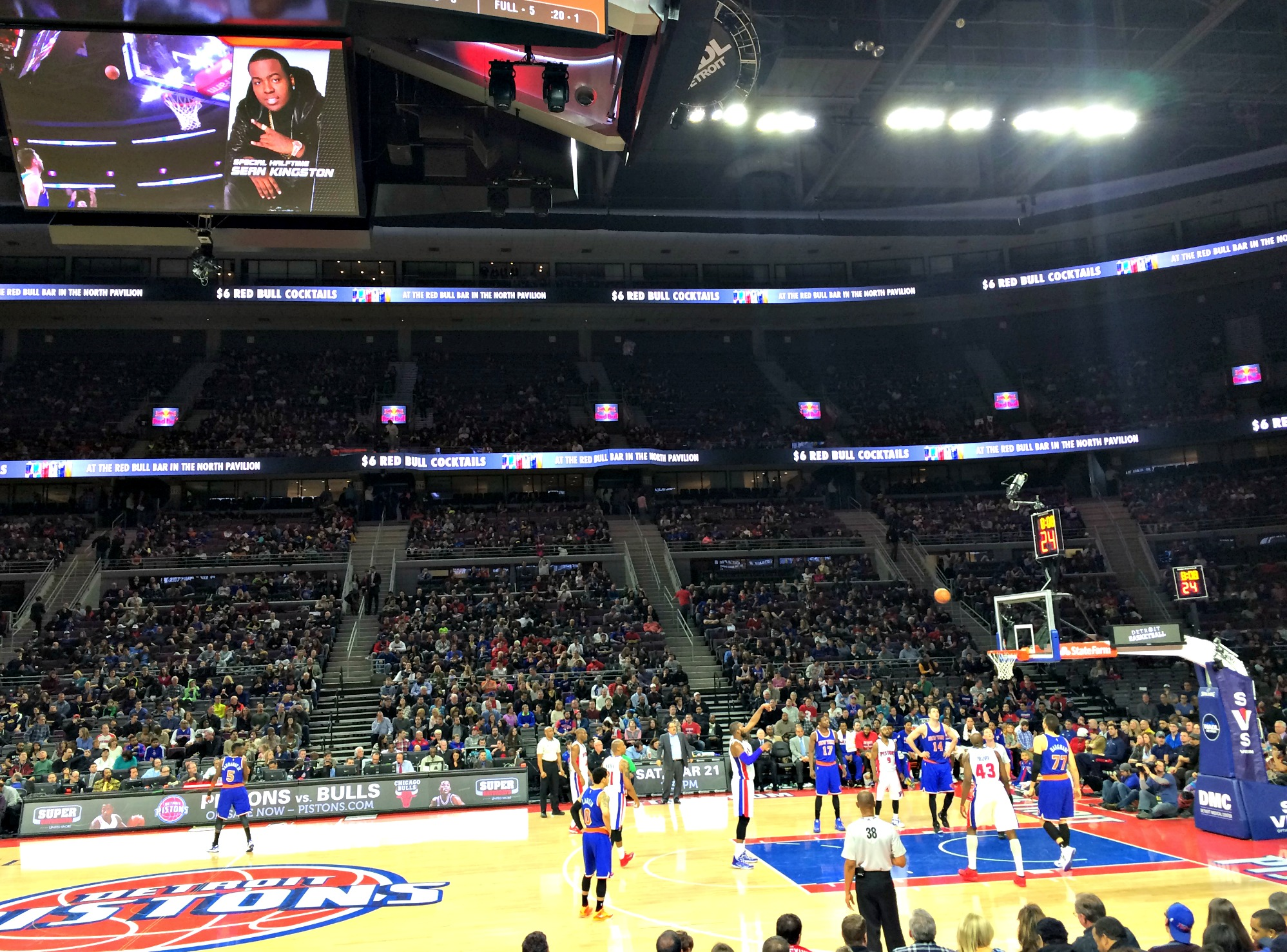 pistons game vs knicks