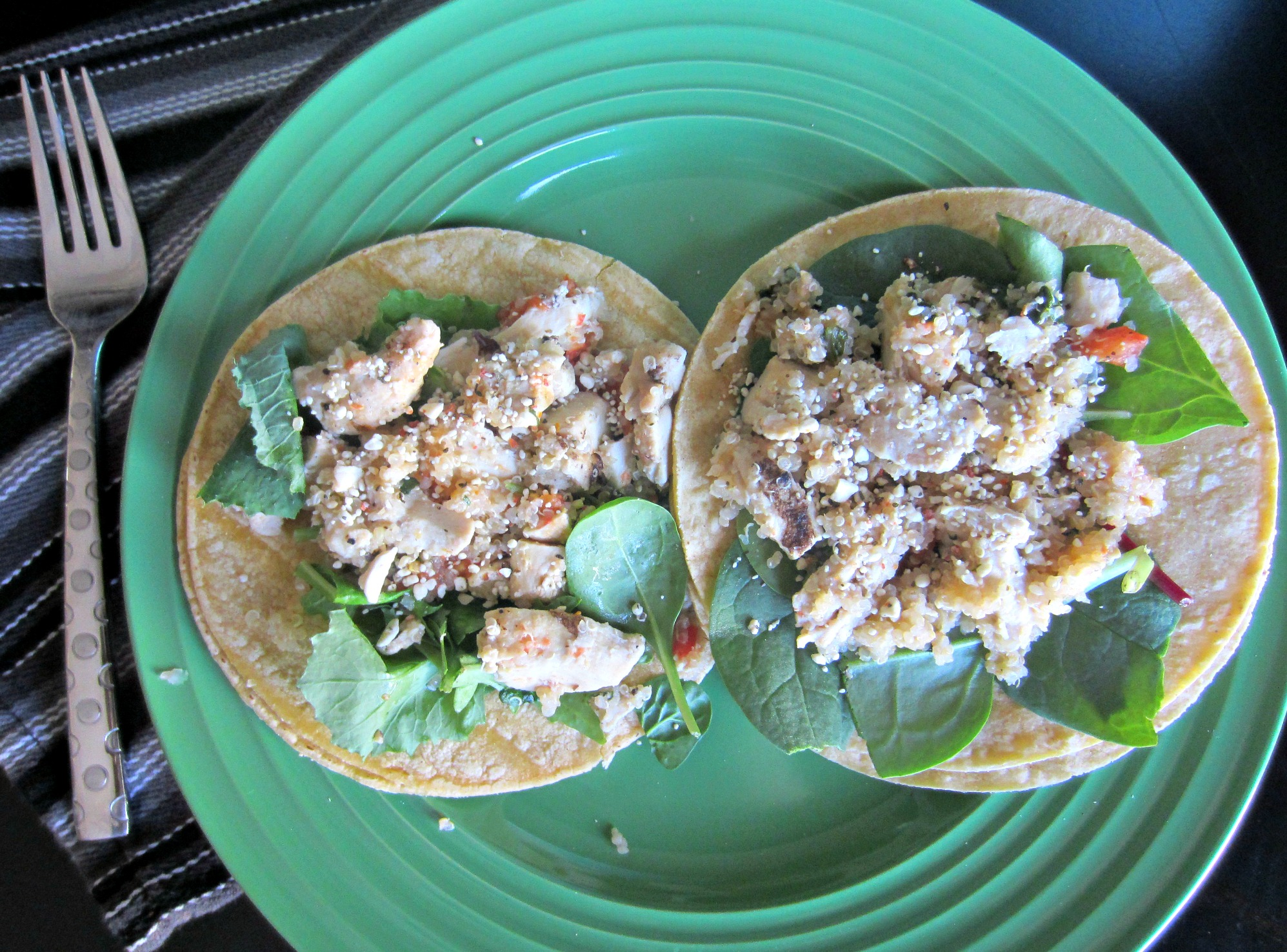 quinoa chicken salad tacos